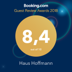 Guest Review Award 2018 - Booking - Haus Hoffmann